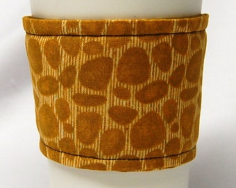 Coffee Cozy/Cup Sleeve Eco Friendly Slip-on, Teacher Appreciation, Co-Worker Gift, Bulk Discount: Giraffe Print