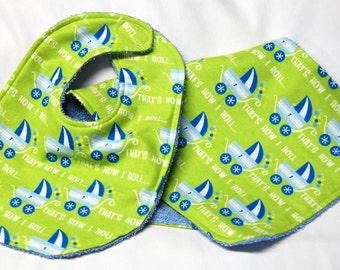 Bib and Burp Cloth Set, Baby Shower Gift, Welcome Baby Gift:  That's How I Roll