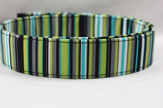 Dog Collar/Dog Collar- Custom Dog Collar - Lagoon Stripe