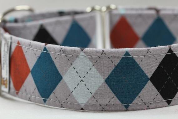 Argyle Dog Collar/Dog Collar - Custom Dog Collar - The Professor