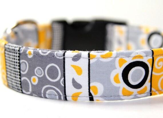Cute Dog Collar - Quick Release- Sun Stripe Dog Collar