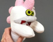 Knuckles, A Sock Zombie with a Pink Fuzzy Toehawk