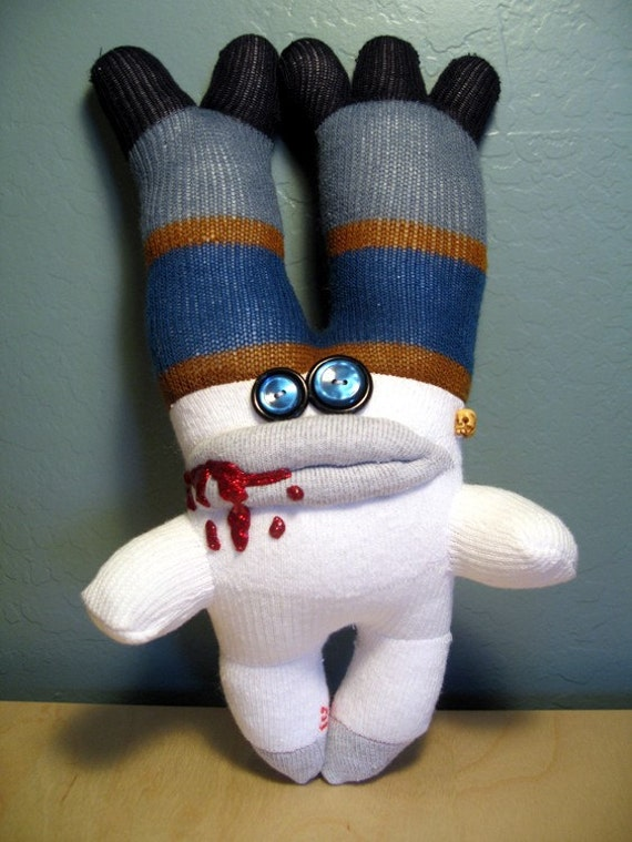 Blue and Brown Toehorn Zombie