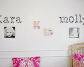 Personalized Custom Fabric Wall Letter Decals-2 names up to 9 letters total-you choose letters, font, and fabric