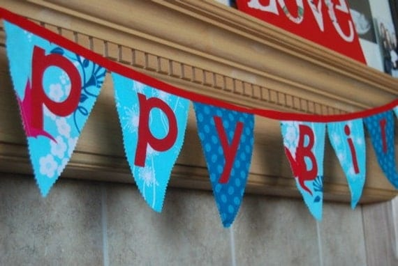 Happy Birthday Banner in Flora and Fauna