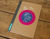 Kraft sewn notebook medium - reach for the sky