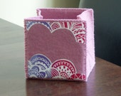 Foldable fabric box - dusky pink