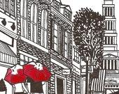 Alexandria, VA Love gocco art print