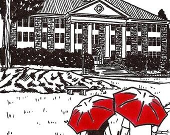 James Madison University Love gocco art print