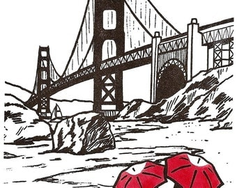 San Francisco Love gocco art print