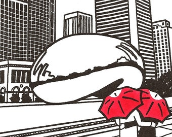 Chicago Love gocco art print