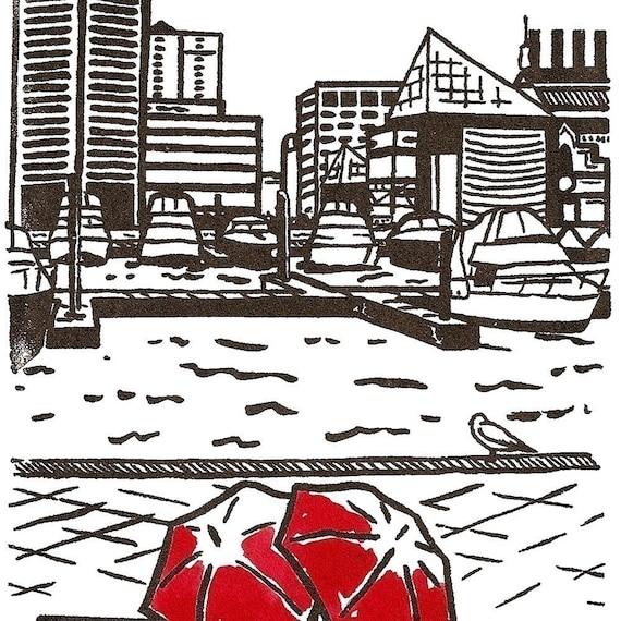 Baltimore Love gocco print