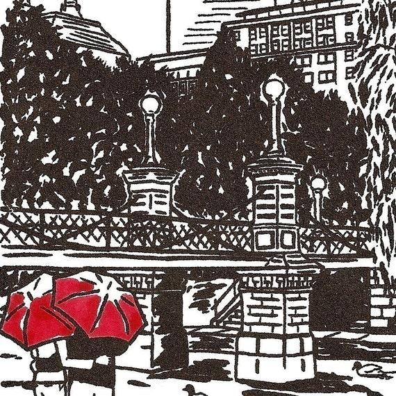 Boston Love gocco art print