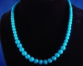 SALE - Buy two, get one FREE....Blue Graduated Mountain Jade Necklace