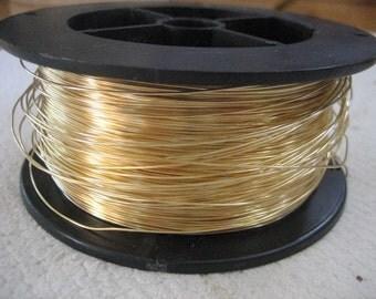 Unplated Brass Wire 22 Gauge 10 feet