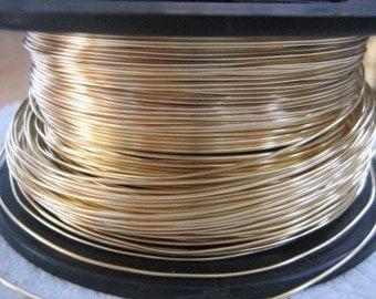 Unplated Brass Wire 20 Gauge 10 feet