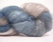 Spinning - Felting Fiber - Cashmere - Silk - Ice Storm - Natural Dyes