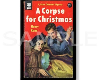 A CORPSE FOR CHRISTMAS - Pulp Fridge Magnet