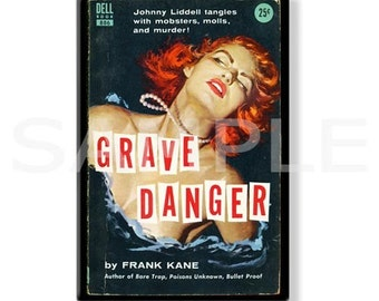 GRAVE DANGER - Pulp Fridge Magnet
