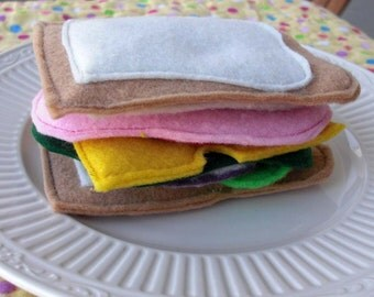 Felt Play Food- Daddy's Cold Cut Classics