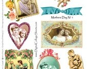 Instant Download Mothers Day Collage Sheet DCS-474 Mother And Child Images DigitalCollageSheets, Printables, Downloads