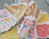 Rag Quilt Baby Blanket - Girl Friday