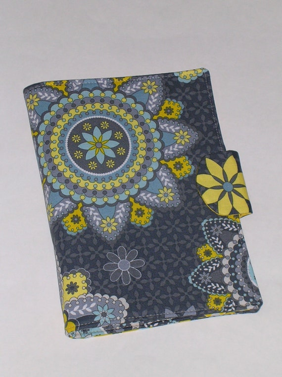 Fabric Portfolio/Notebook Organizer with magnetic snap closure (Fits 5 X 8 notepad)
