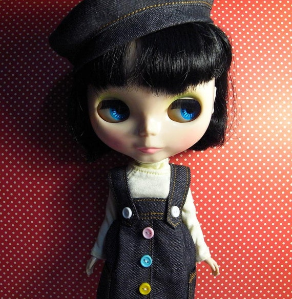 Set of Blythe Corduroy skirt  jeans and hat