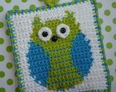 Owl Potholder Crochet PATTERN - INSTANT DOWNLOAD