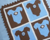 Monkey Onesie Baby Blanket Crochet PATTERN - INSTANT DOWNLOAD