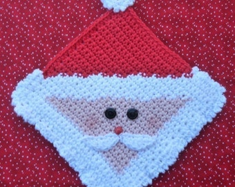 Santa Potholder Crochet PATTERN - INSTANT DOWNLOAD
