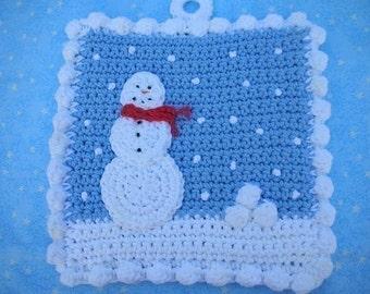 Got Snowballs Potholder Crochet PATTERN - INSTANT DOWNLOAD