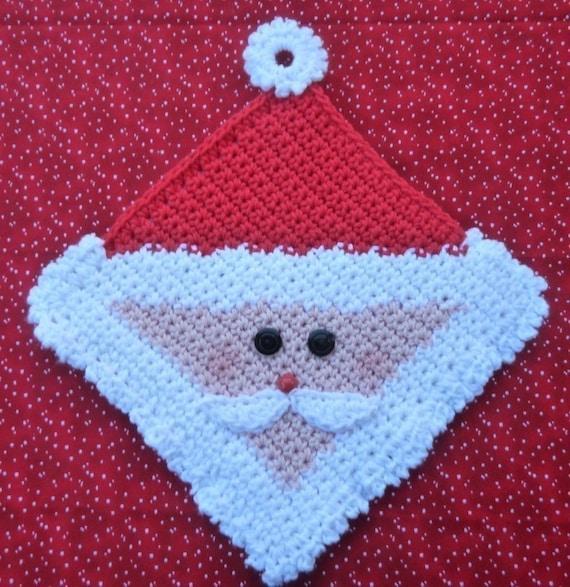 Easter Pot Holders Crochet: Santa Potholder Crochet PATTERN INSTANT DOWNLOAD