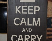 New Large Size Keep Calm and Carry On Primitive Handpainted Wood Nostalgia Home Decor Sign Wall Hanging