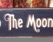 I Love You To The Moon and Back Primitive Wood Sign Childrens Wall Decor Bedroom Stars Nursery Kids Plaque Hanging