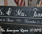 Custom Wood Handpainted Wedding Sign Gift DESIGN YOUR OWN Primitive Plaque