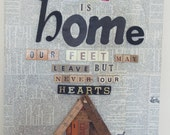 pre-order...where we love is home...mash-up on canvas