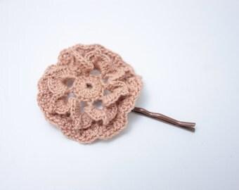 Crochet Hairpin Dusty Rose