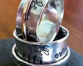 10mm Spinner Ring with GOLD Filled Spinning Ring - ANY SIZE - Creative Mode