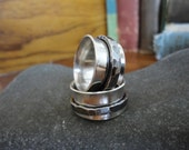 Sterling Silver Spinner Ring with Heavy Oxidized Spinner - Creative Mode