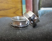 Sterling Silver Spinner Ring with Heavy Antiquing - Creative Mode