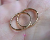 Hammered Gold Filled Sentiment Ring - ANY SIZE - Creative Mode
