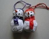 Snowmen duo decorations