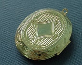 Large Gold-plated Locket