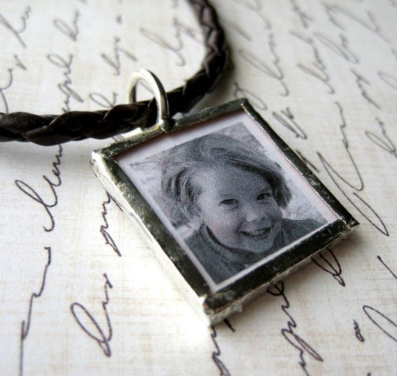 personalized soldered charm necklace