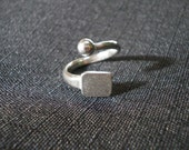 Ring blank- sterling silver and adjustable