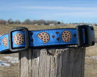 Cookie Monster Dog Collar - Collar for dog that loves cookies - chocolate chip cookies - Cookie Dog Collar