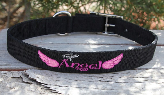 ANGEL dog collar with metal buckle - Strong buckle - for big dogs - heavy pullers