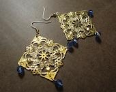 Blue Skies Chandelier earrings