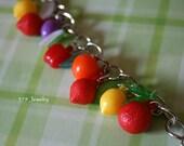 SALE Vintage Tropical Fruits Charm Bracelet